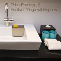 Think Positively & Positive Things Will Happen - Wall Words Quote Decal