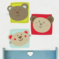 Three Little Bears - Printed Wall Decals