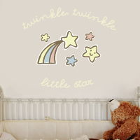 Twinkle Twinkle Shooting Star - Quote - Printed Wall Decals