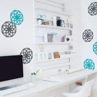 Two Color Mod Star Bursts - Printed Wall Decals
