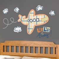 Up, Up & Away Airplane - Quote - Printed Wall Decals