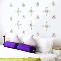 Vintage Flowers - Printed Wall Decals
