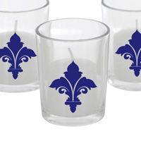 Fleur de Lis - Wedding Votive Decals - Set of 64 - Votive Stickers