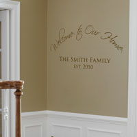 Welcome to Our Home - Personalized Monogram - Family - Wall Decals