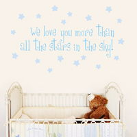 All the Stars in the Sky - Quote - Wall Decals