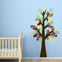 Whimsy Patchwork Tree - Playroom Wall Decals