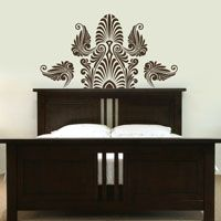 Ornate Indian Inspired Headboard - Wall Decals