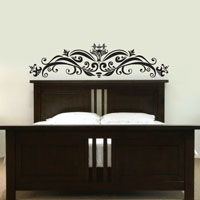 Ornate Headboard - Wall Decal