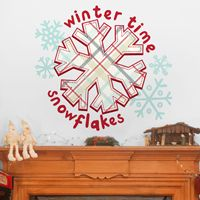 Winter Time Snowflakes - Printed Wall Decals