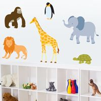 Zoo Animals - Set of 6 - Printed Wall Decals