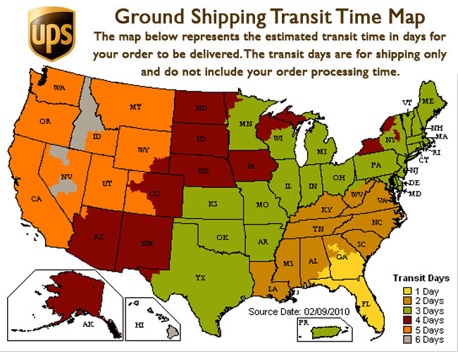 Usps delivery times map