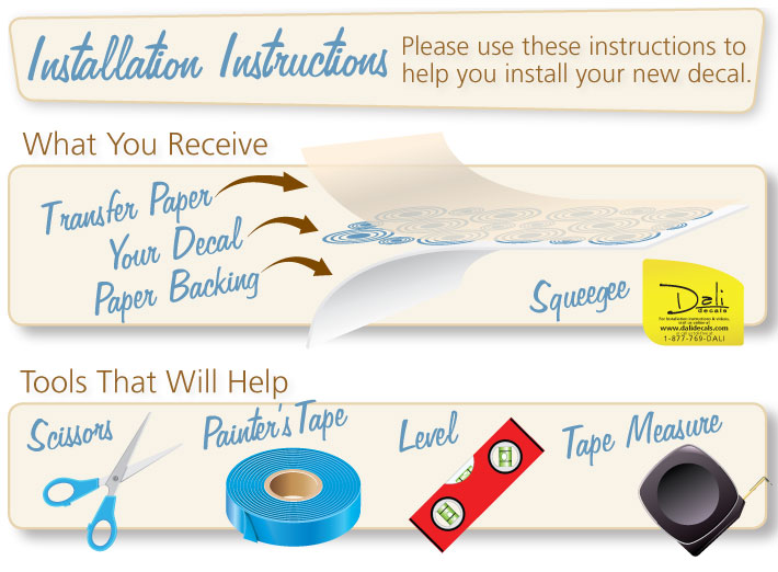 Superieur Installation Instructions. Wall Decals ...