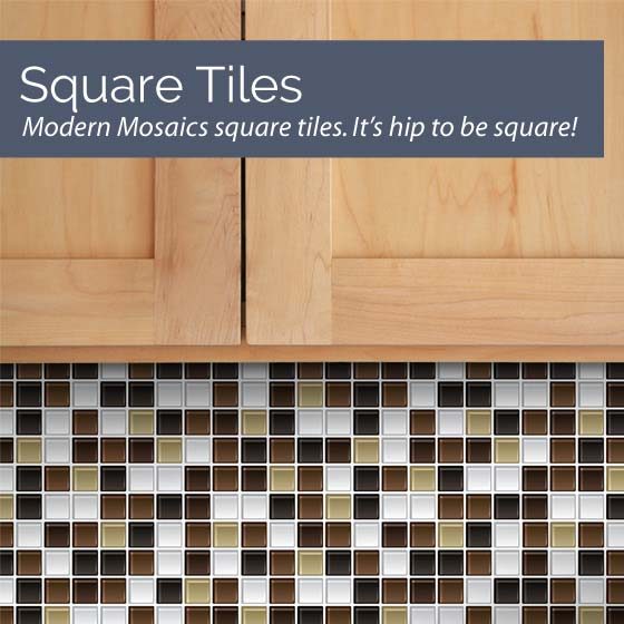 Modern Mosaics Square Mosaic Tile Wall Decals