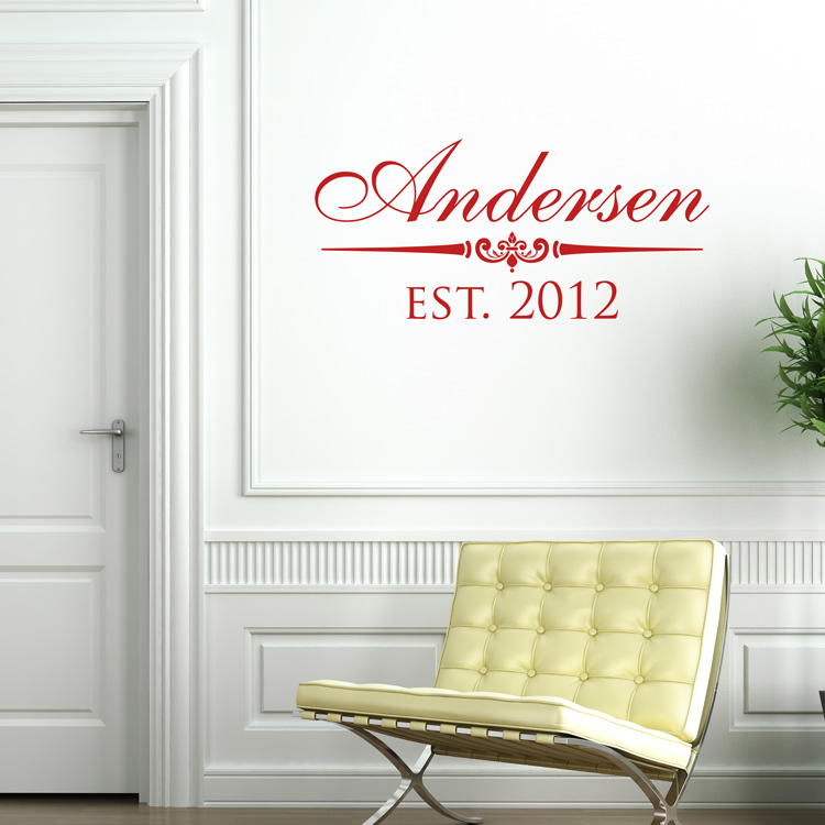 Classic Family Name Personalized Monogram Wall Decals