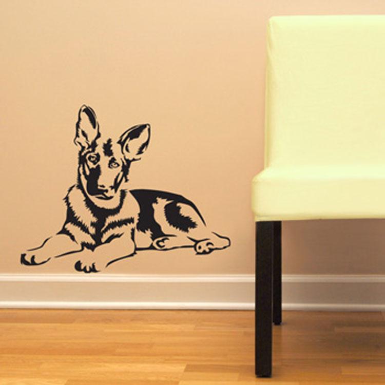 German Shepherd Dog GSD Vinyl Wall Decal