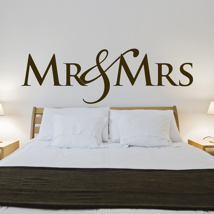 Mr Mrs Love Couple Wedding Wall Decals