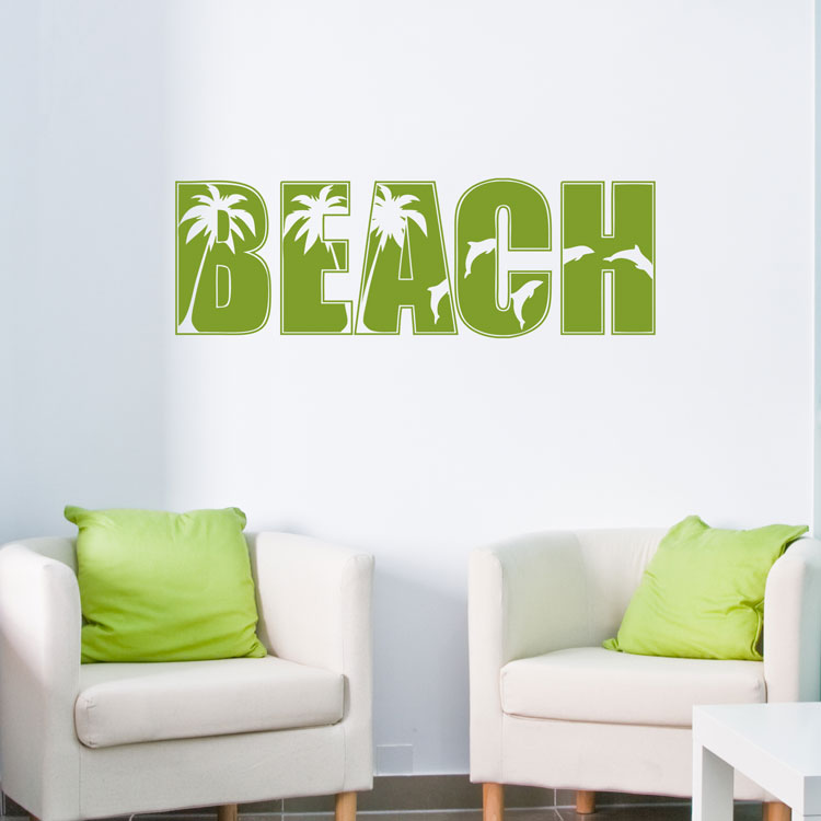 Beach sign wall decals for Beach wall decals