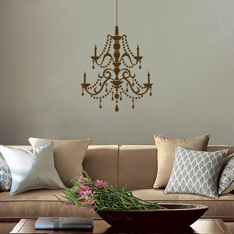 fancy crystal chandelier vinyl wall decals