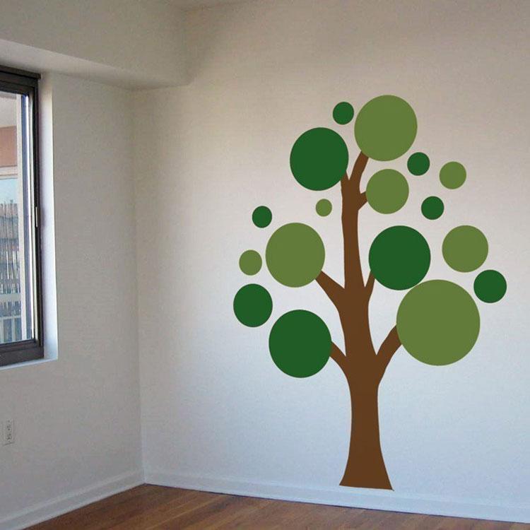 Lots Circles Tree Vinyl Wall Decals