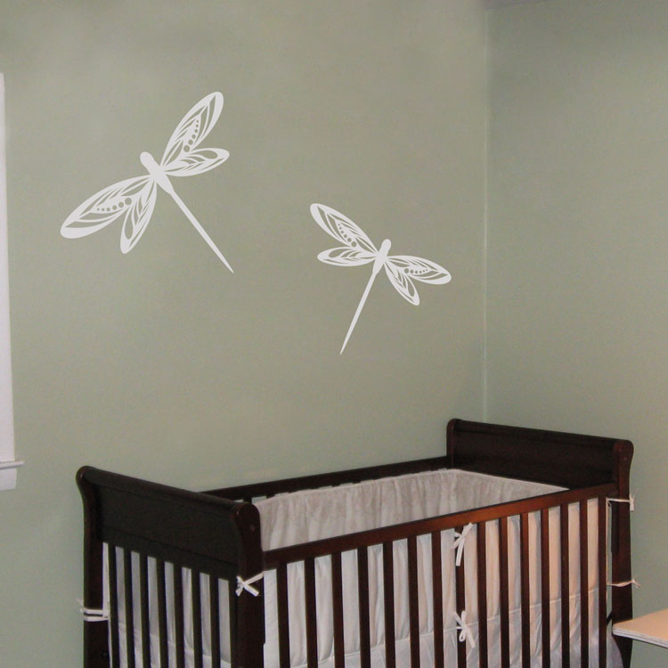 Pretty Dragonflies Set Of 4 Wall Decals
