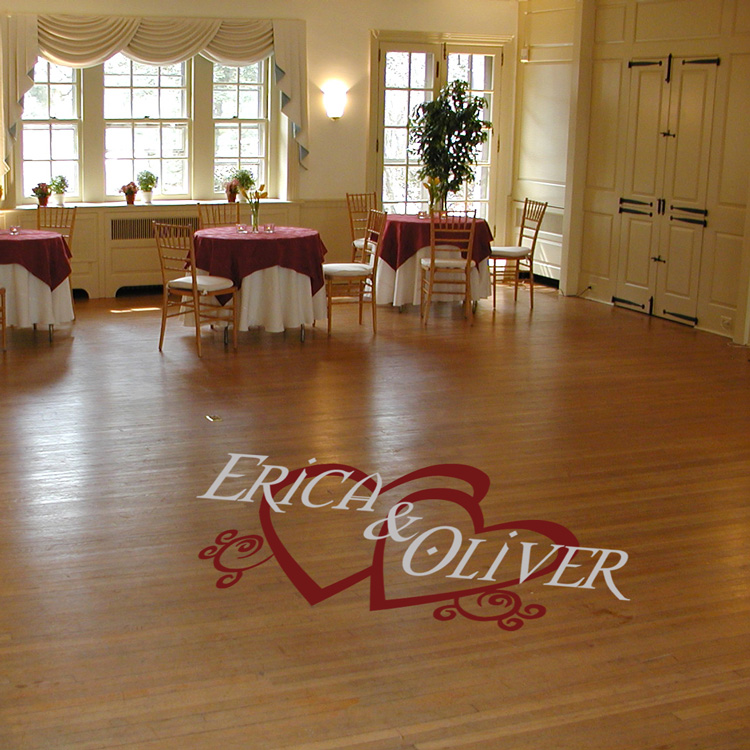 Personalized Wedding Reception Dance Floor Wall Decal
