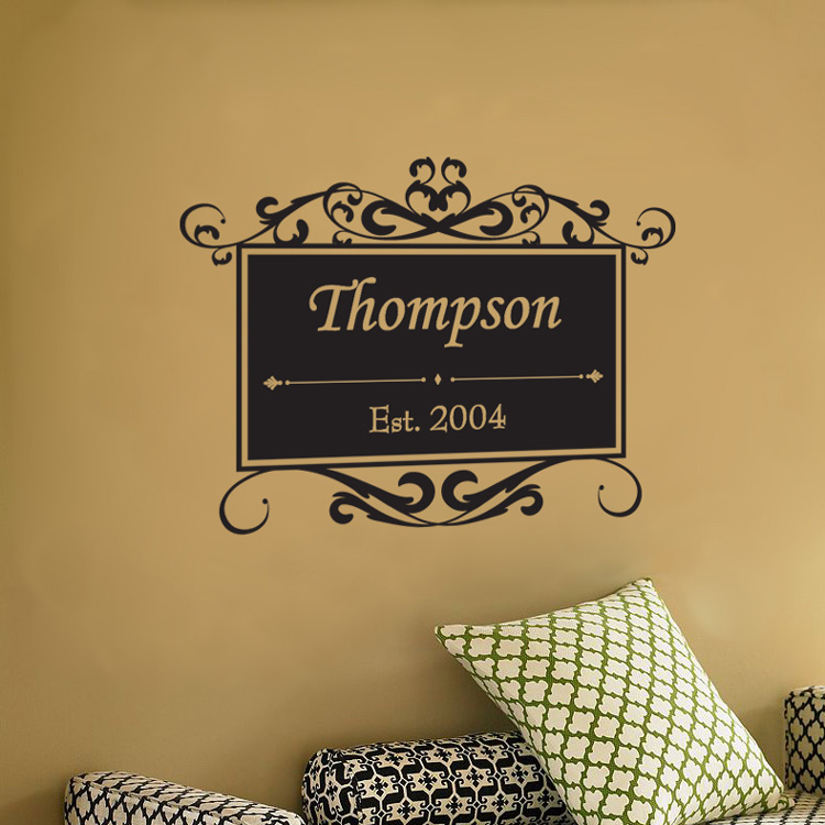 family sign personalized with your family name wall. Black Bedroom Furniture Sets. Home Design Ideas