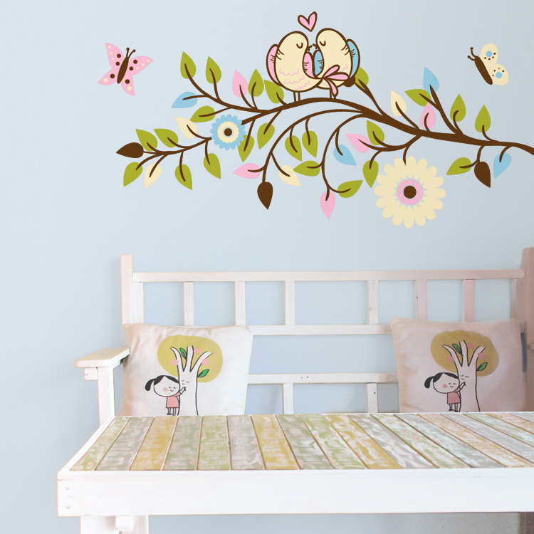 Love Birds on a Branch - Printed Wall Decals Stickers Graphics