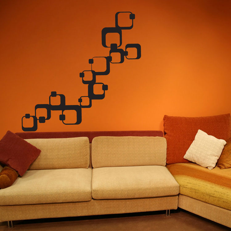 Geometric Squares Vinyl Wall Decals
