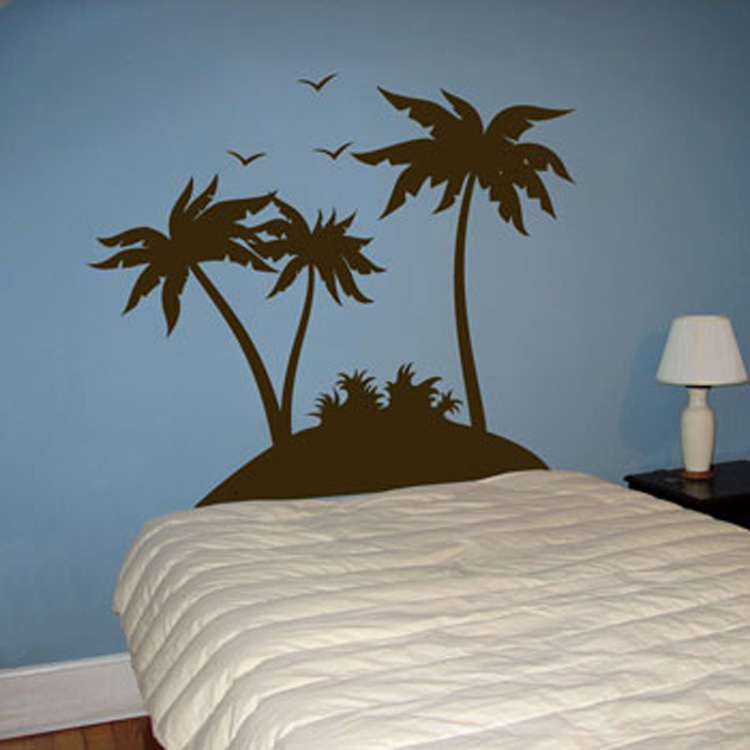Tropical Palm Trees And Birds Set Of 3 Wall Decals
