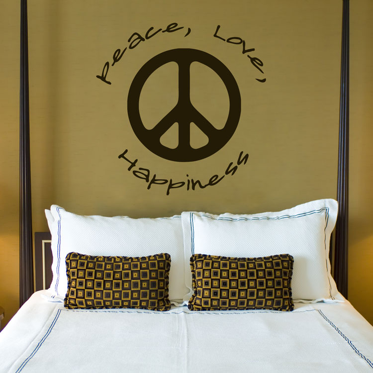 Peace Love Happiness - Quotes - Wall Decals