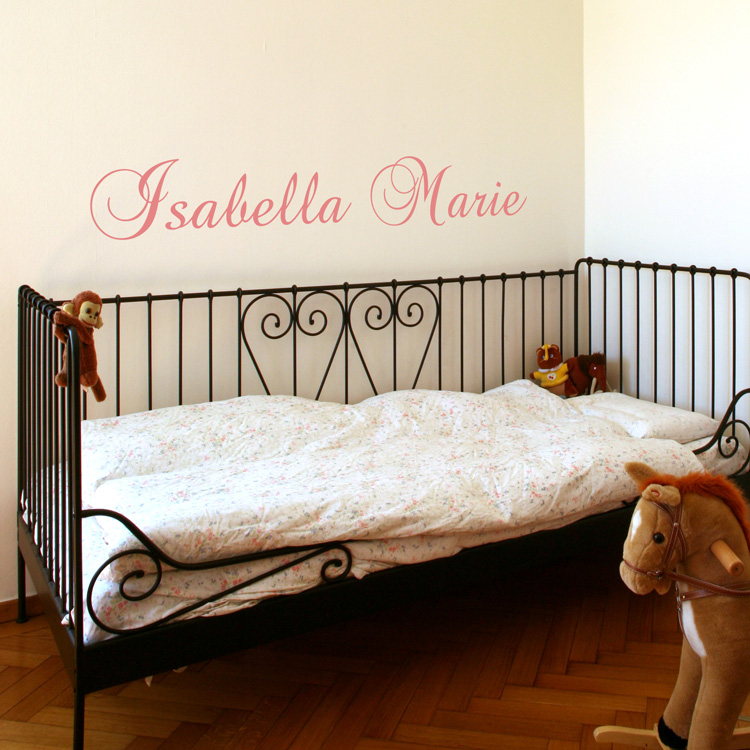 Personalized names your child 39 s name vinyl wall decals for Custom wall mural decals
