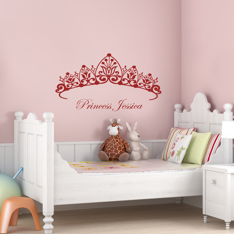 princess headboard girls room wall decals. Black Bedroom Furniture Sets. Home Design Ideas