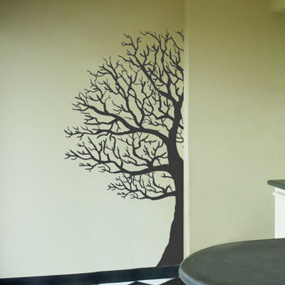 Winter Tree Made For The Corner Wall Decals