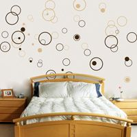 Circles - Bubbles - Set of 72 - Wall Decals