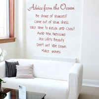Advice from the Ocean - Quote - Inspirational Wall Decals