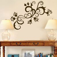 Paisley Swirls and Flowers - Vinyl Wall Decals