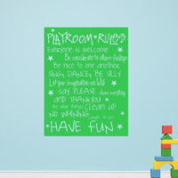 Playroom Rules - Wall Decals