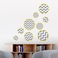 Fun Zigzag Bubbles - Printed Wall Decals
