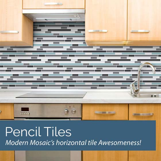 Pencil Mosaic Tile Wall Decals