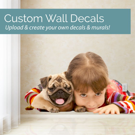 custom printed wall decals and murals Custom Wall Decals